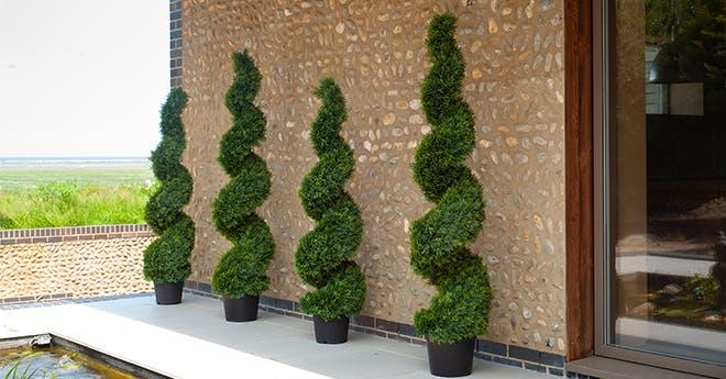 artificial cedar spiral trees