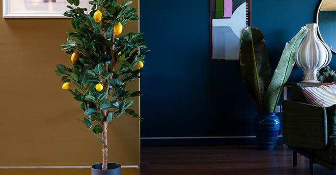 Artificial fruit trees lemon plant
