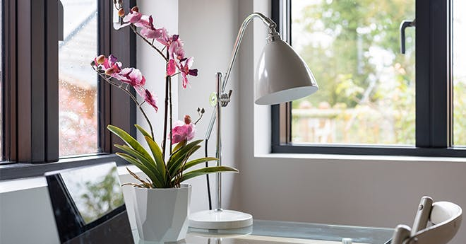 artificial potted orchids - large and small