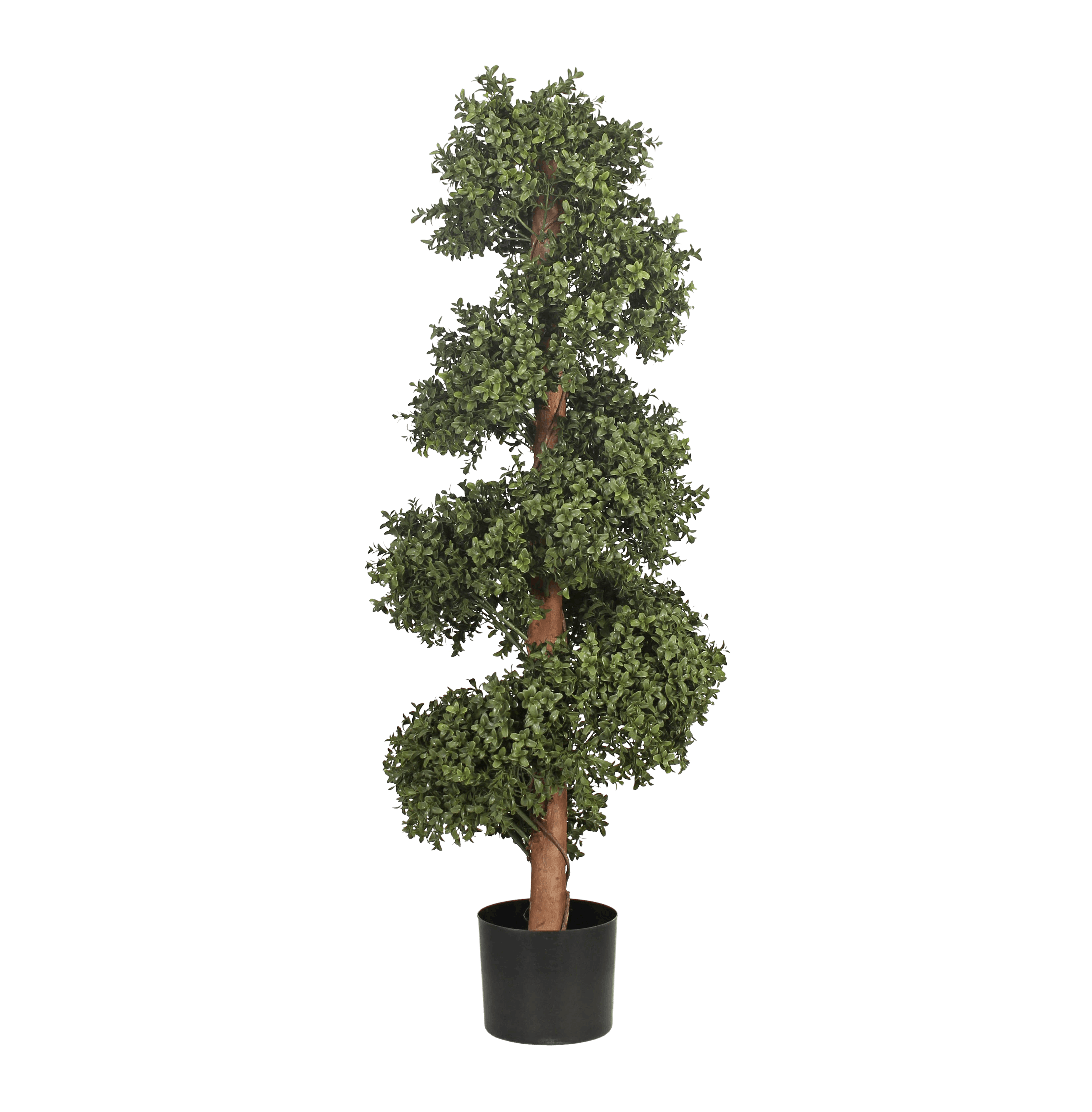 Artificial boxwood spiral with stem 120cm