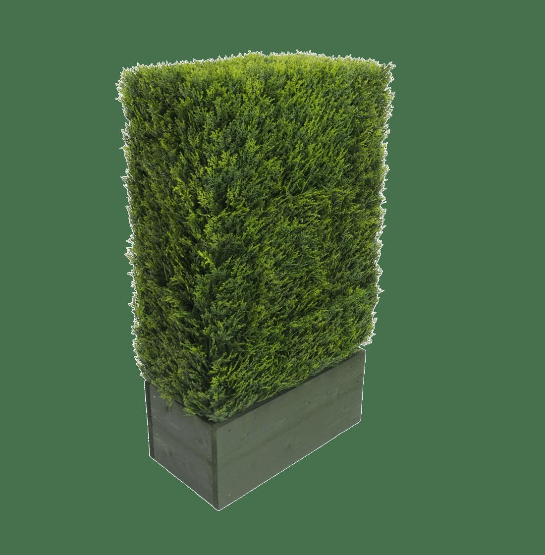 Artificial cedar hedge