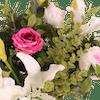 Artificial elegance flowers closeup