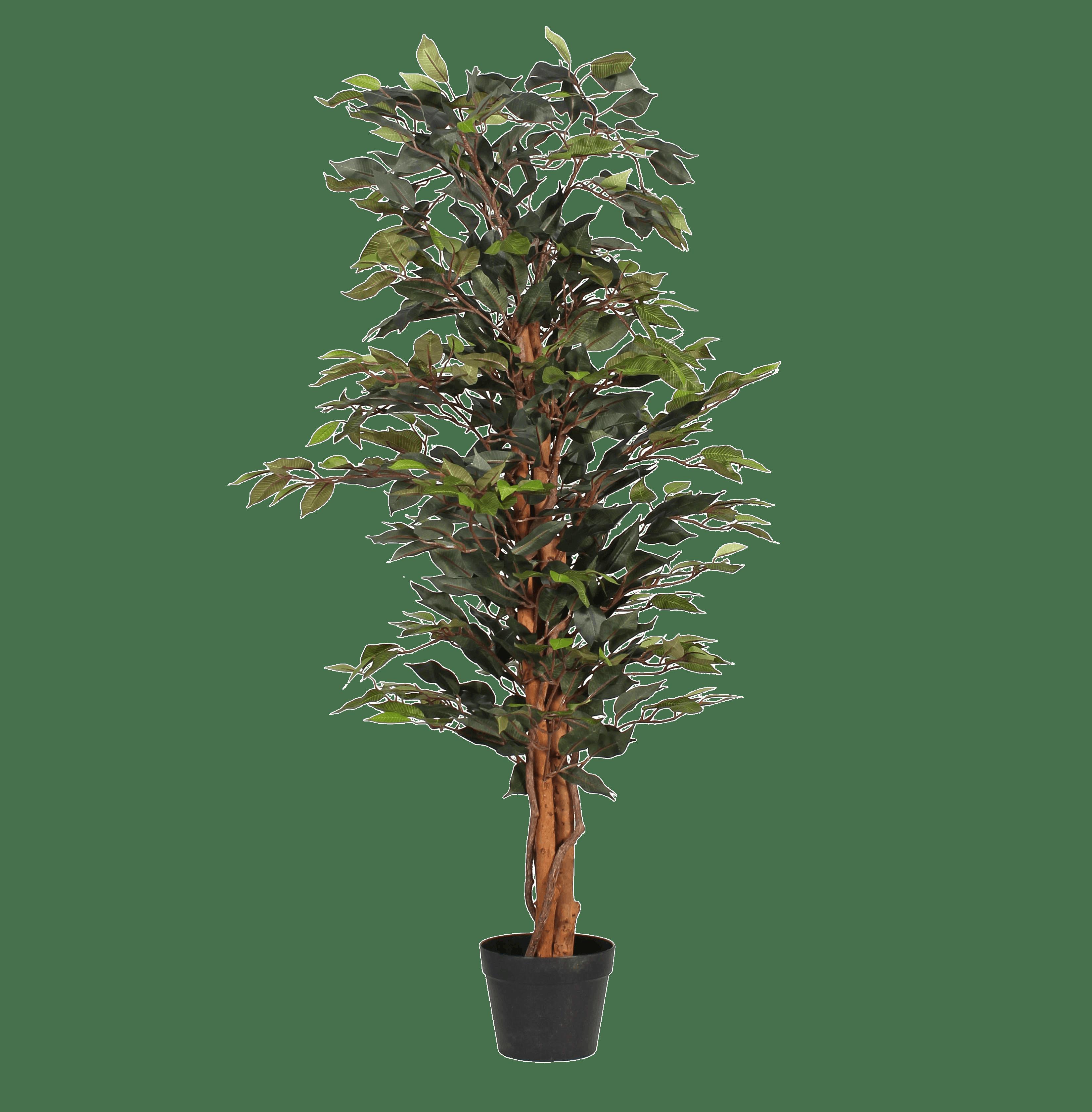 Artificial green ficus tree 120cm