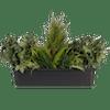 Artificial green foliage window box