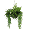 Artificial forest foliage hanging basket