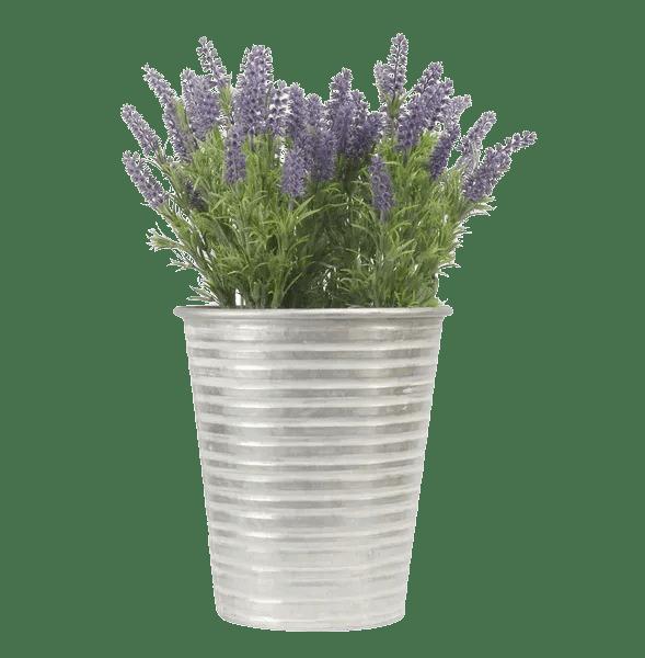 Artificial lavender tin planter