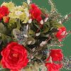Artificial regal bouquet close up