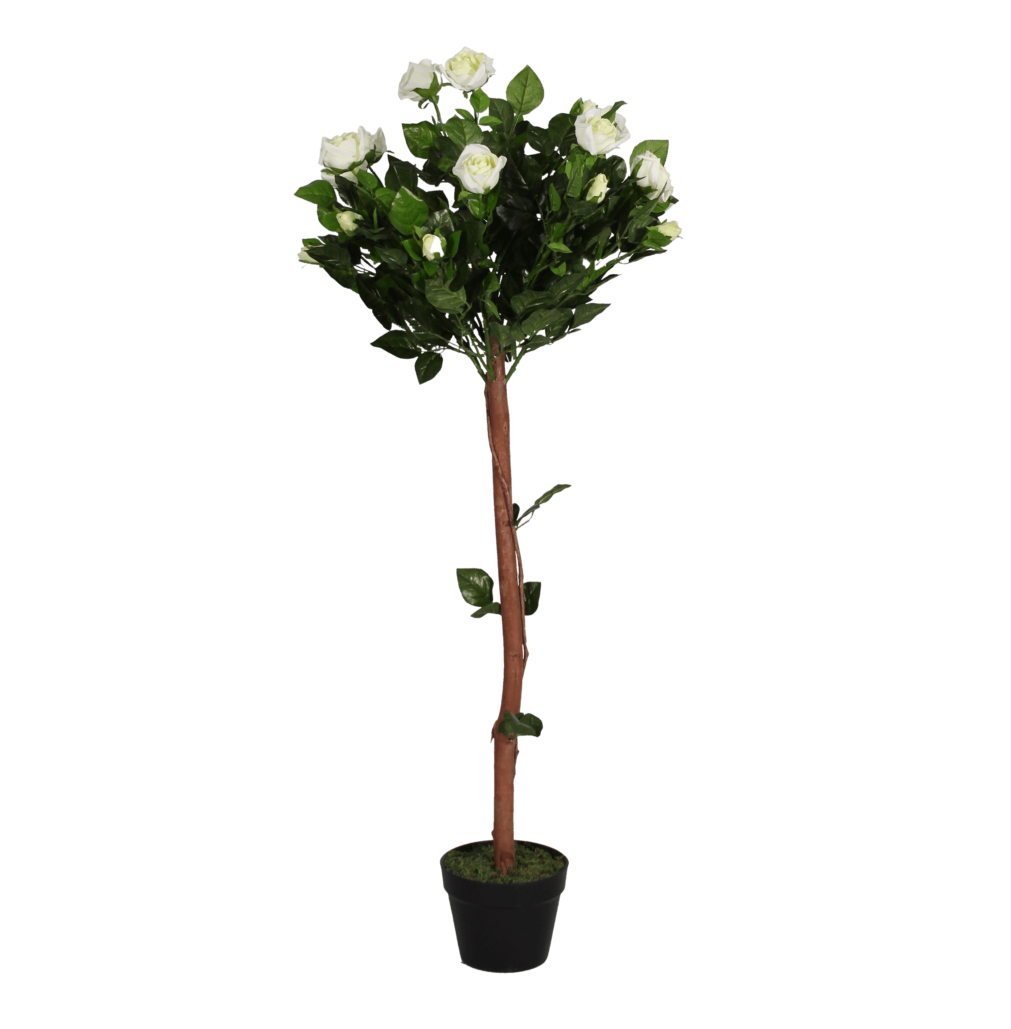 Artificial rose ball tree white
