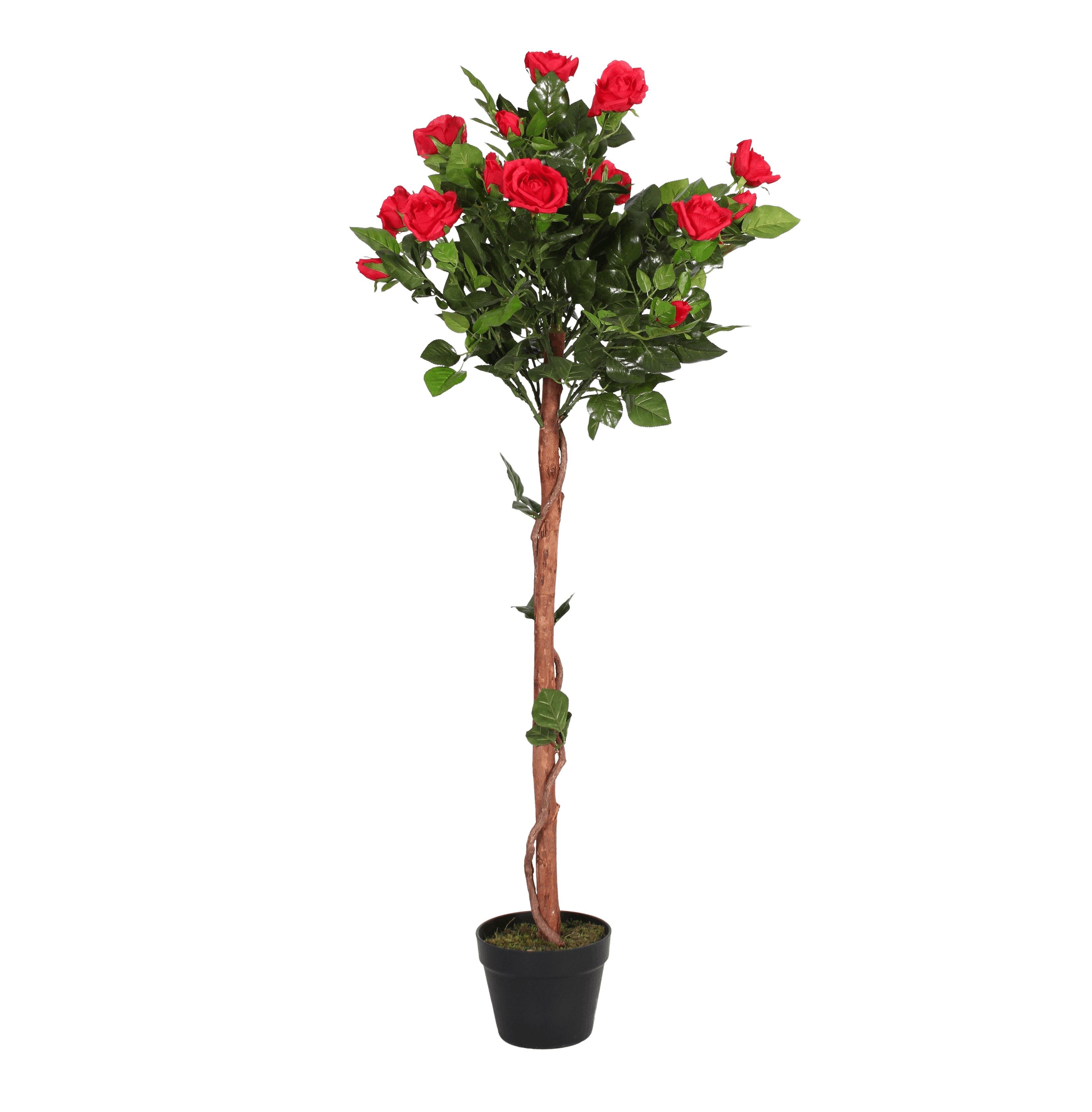 Artificial rose ball tree red