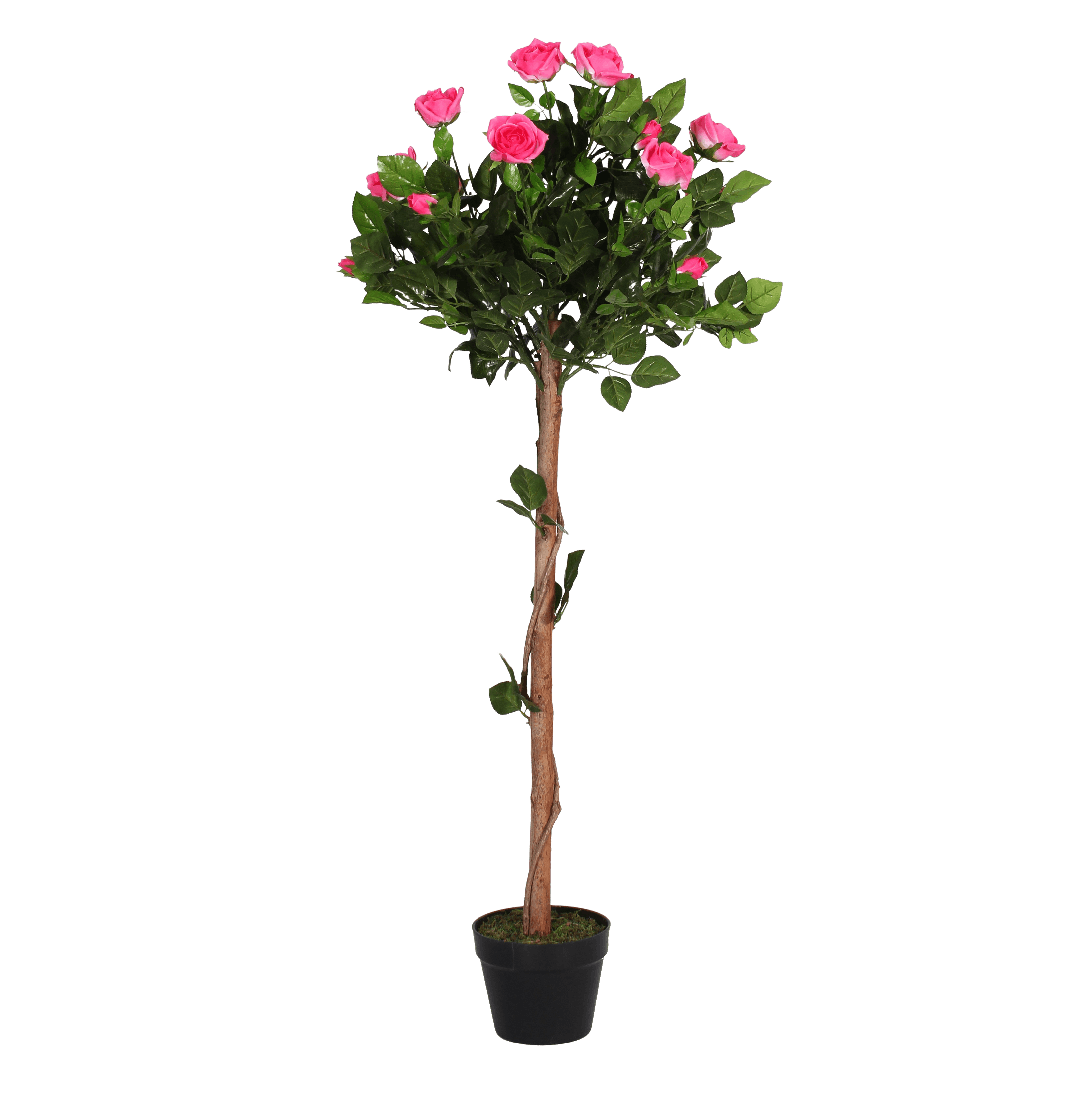 Artificial rose ball tree pink
