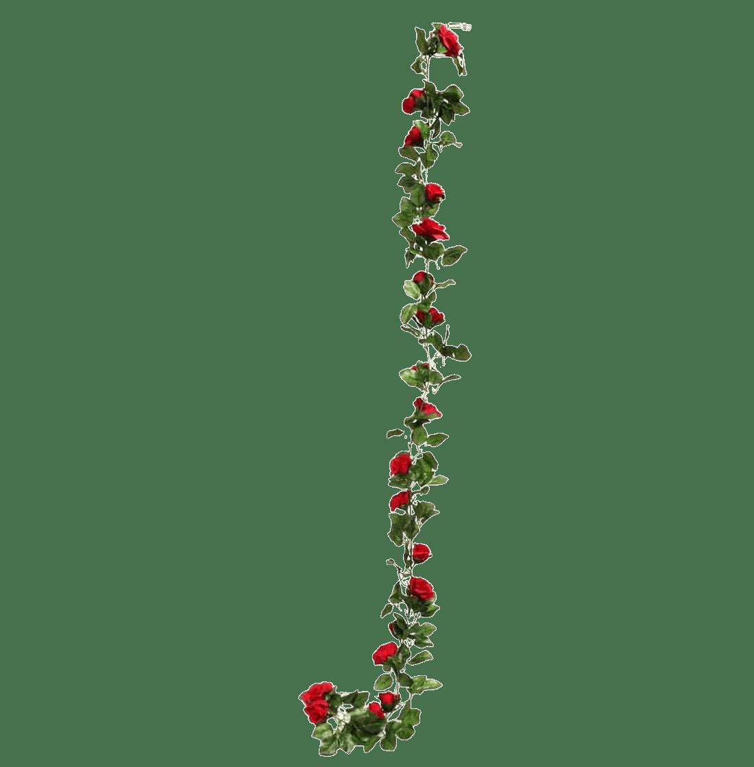 Artificial rose garland red