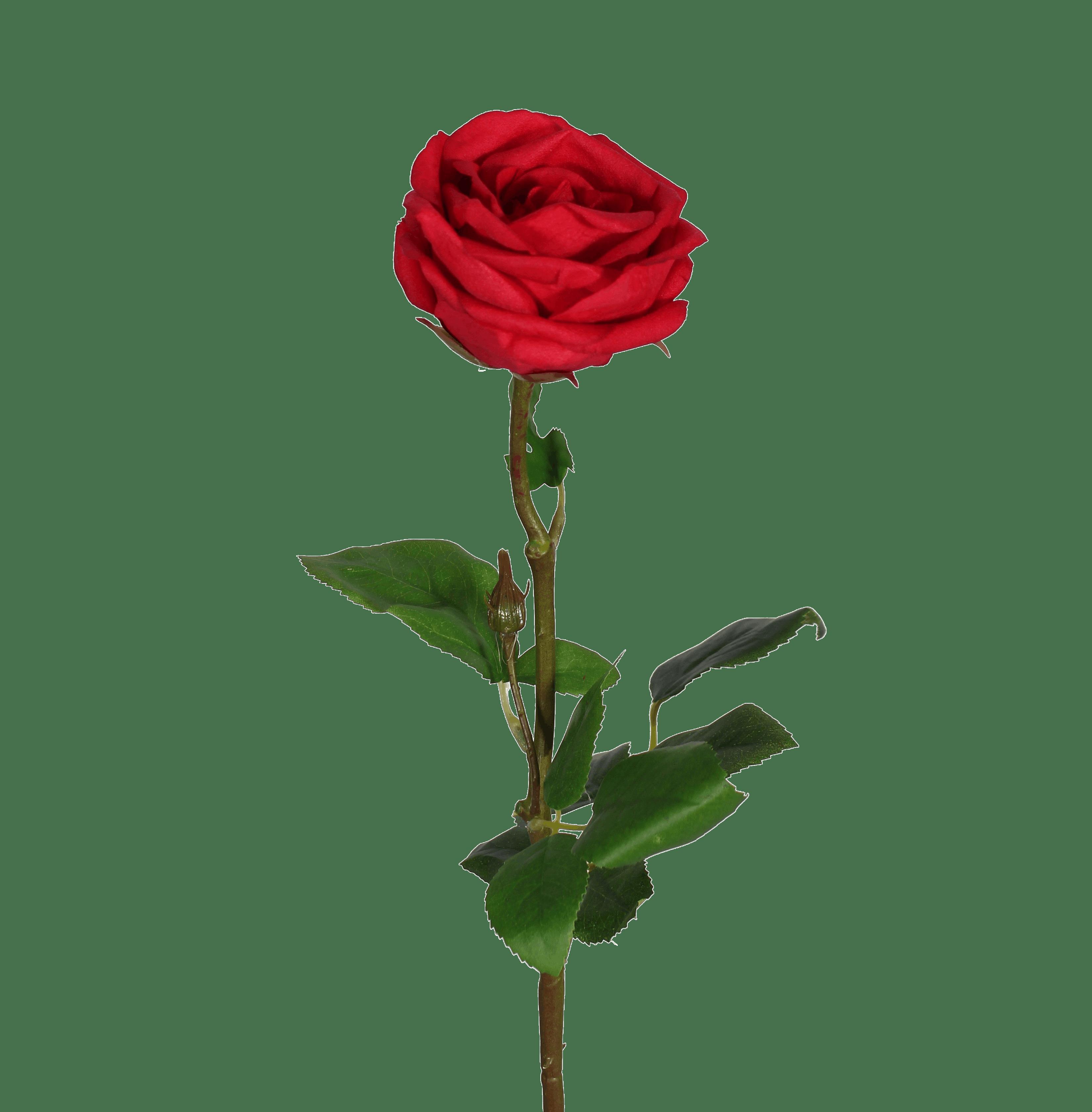 Artificial rose stem red