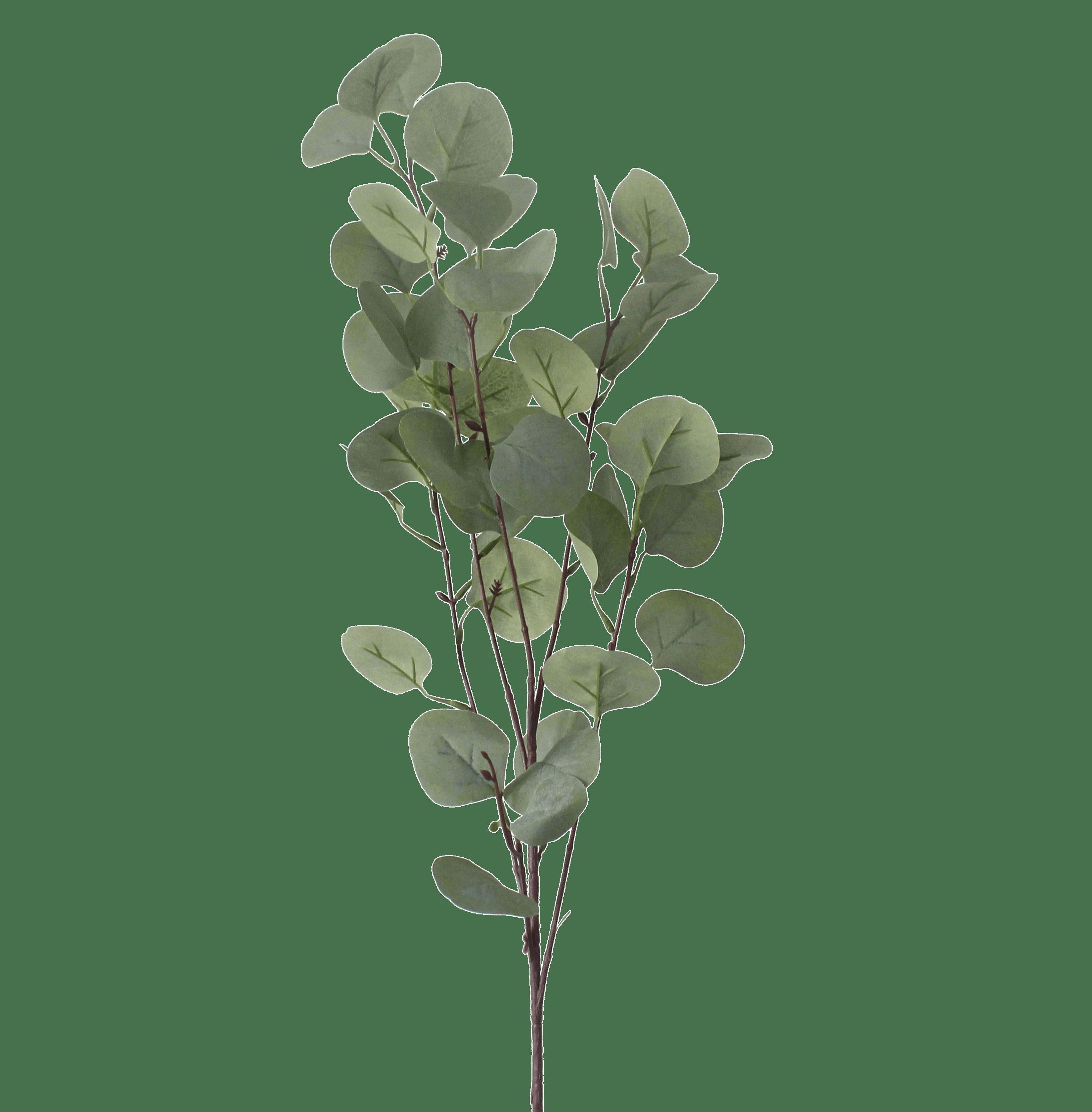 Artificial silver dollar eucalyptus spray