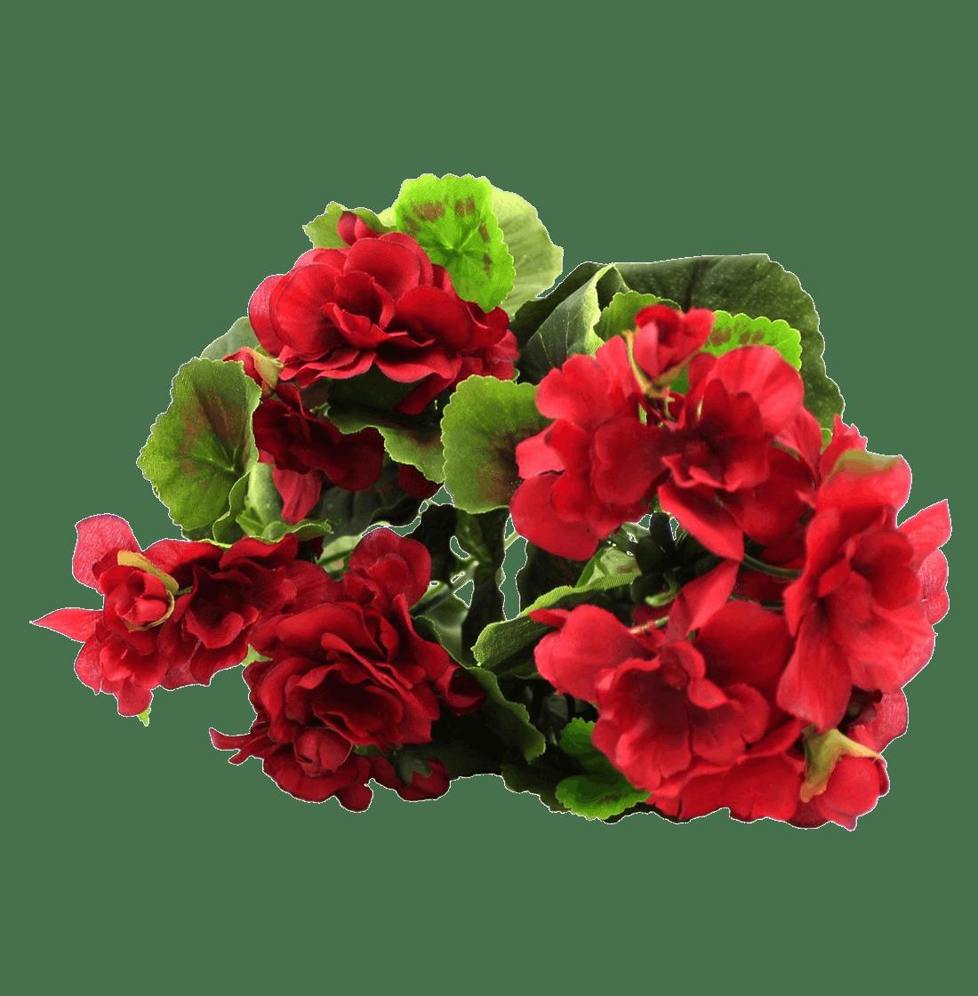 Artificial small geranium bush red