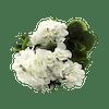 Artificial small geranium bush white