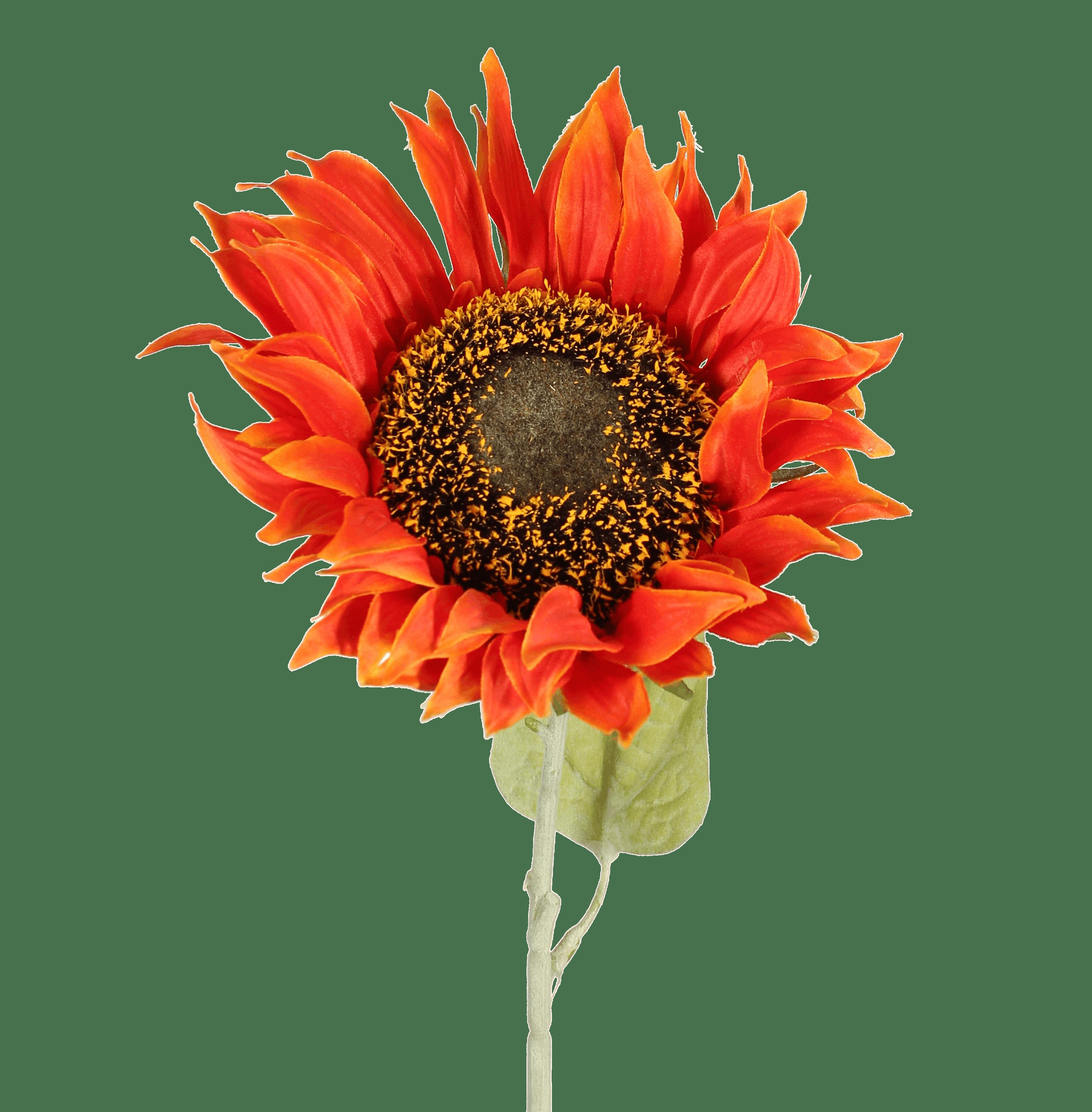 Artificial sunflower stem orange