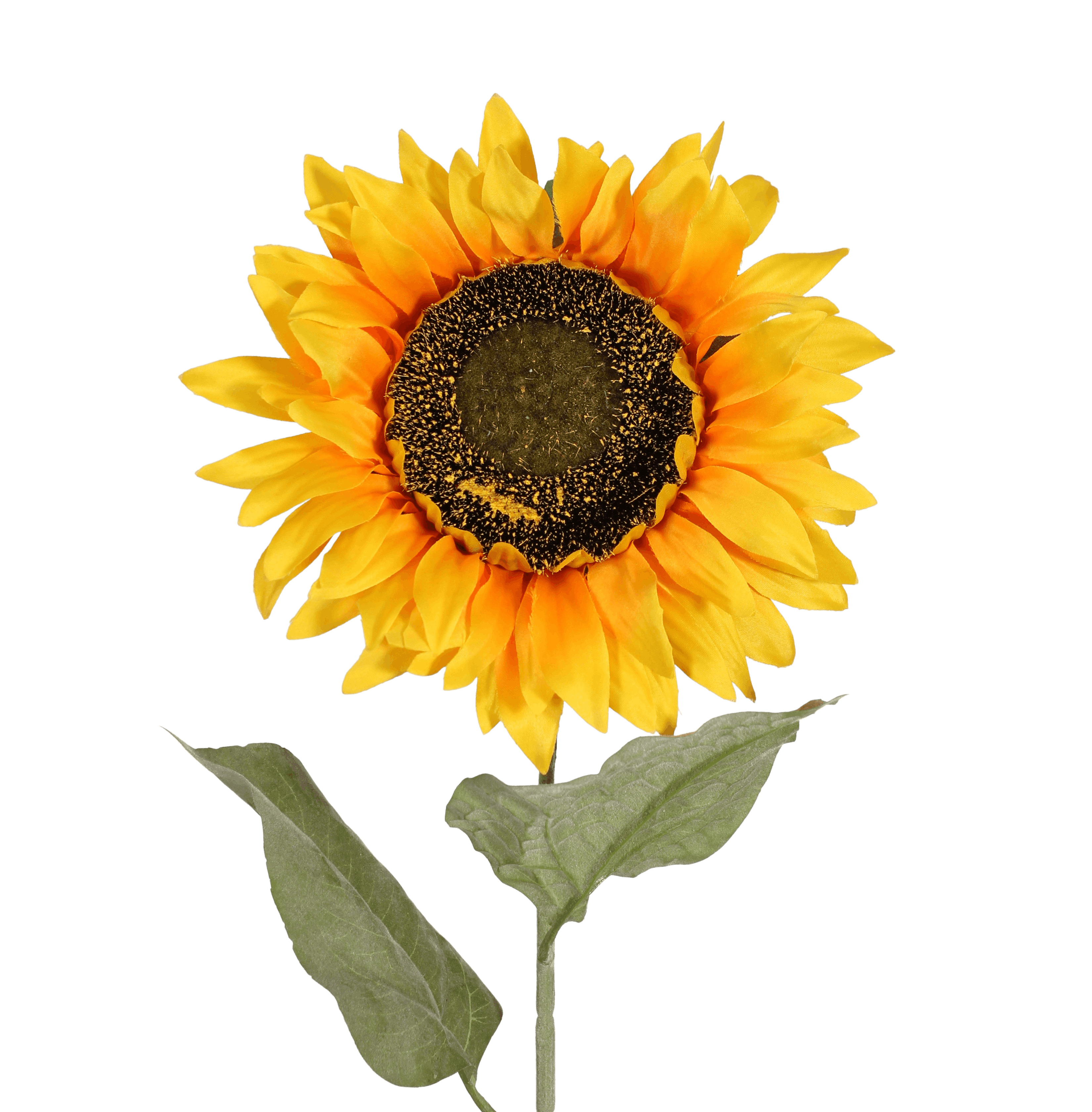 Artificial sunflower stem yellow