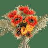 Artificial tequila sunrise bouquet