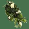 Artificial trailing geranium bush cream