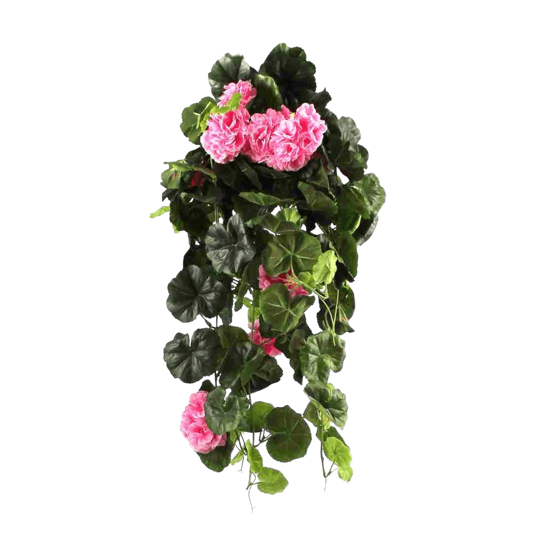 Artificial trailing geranium bush pink