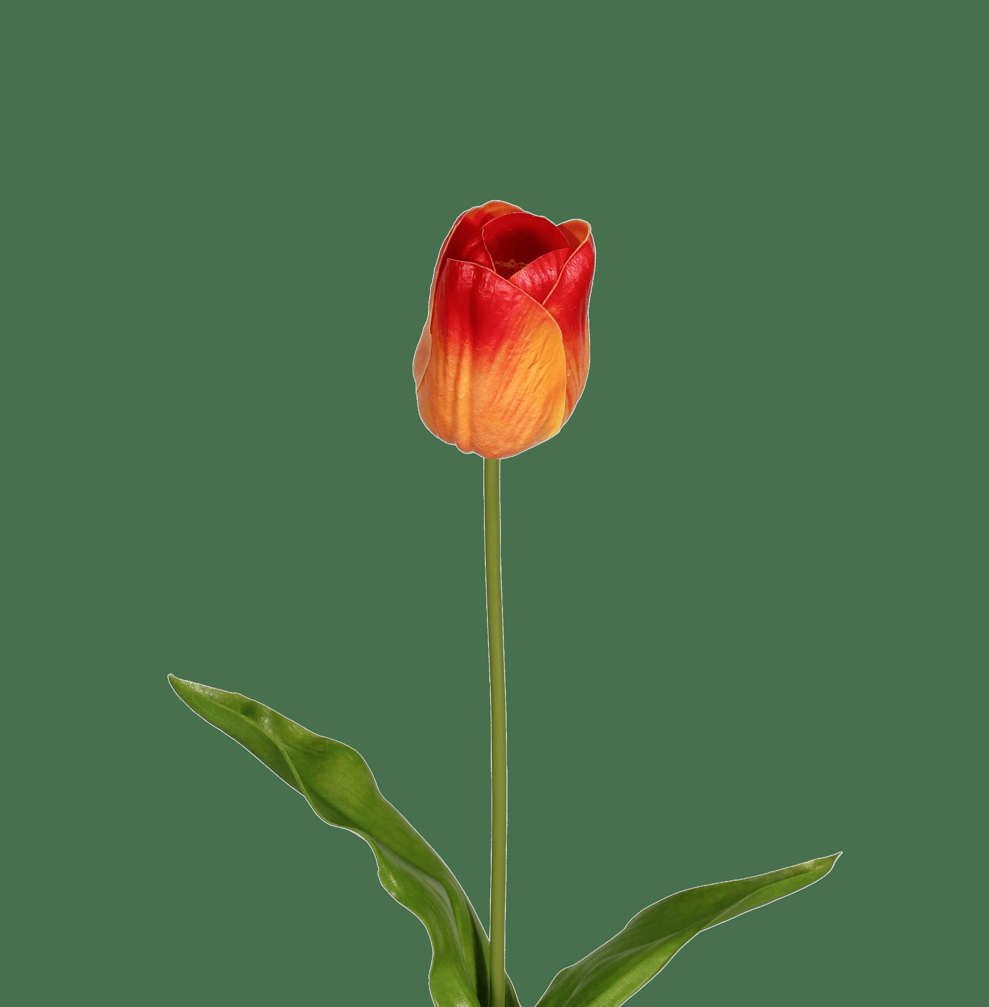 Artificial tulip stem orange