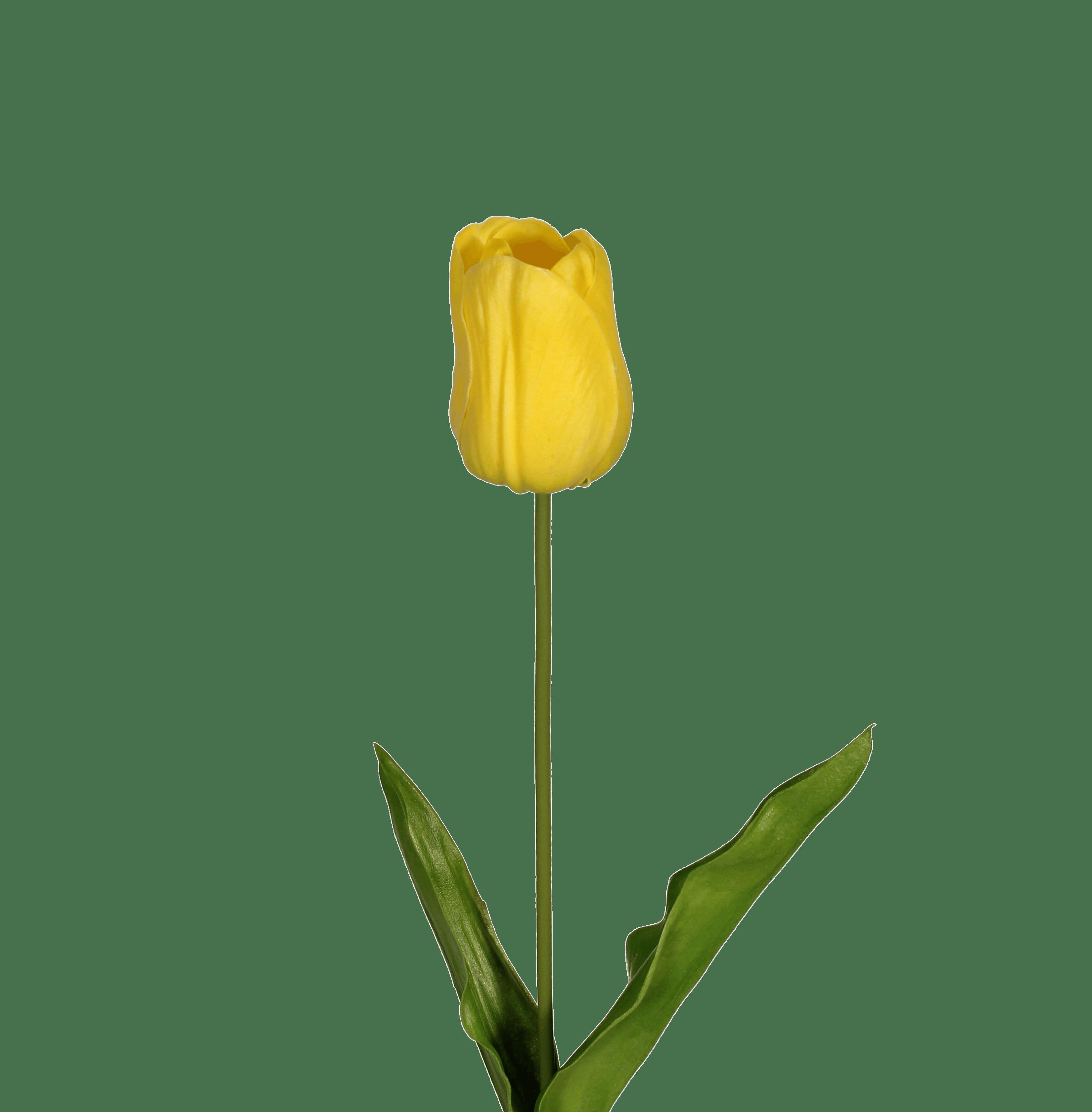 Artificial tulip stem yellow