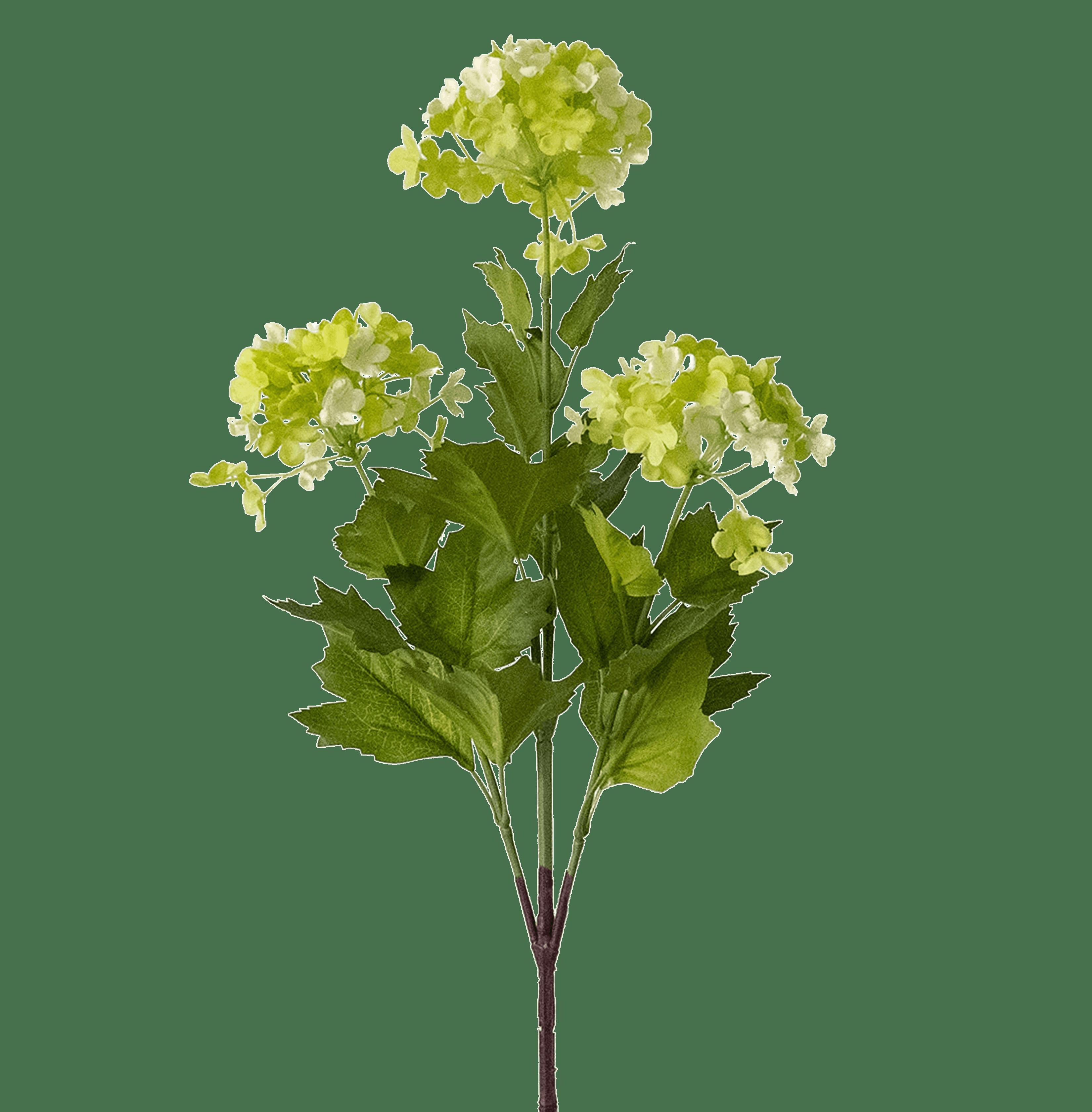 Artificial green viburnum stem