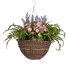 Artificial wild flower hanging basket