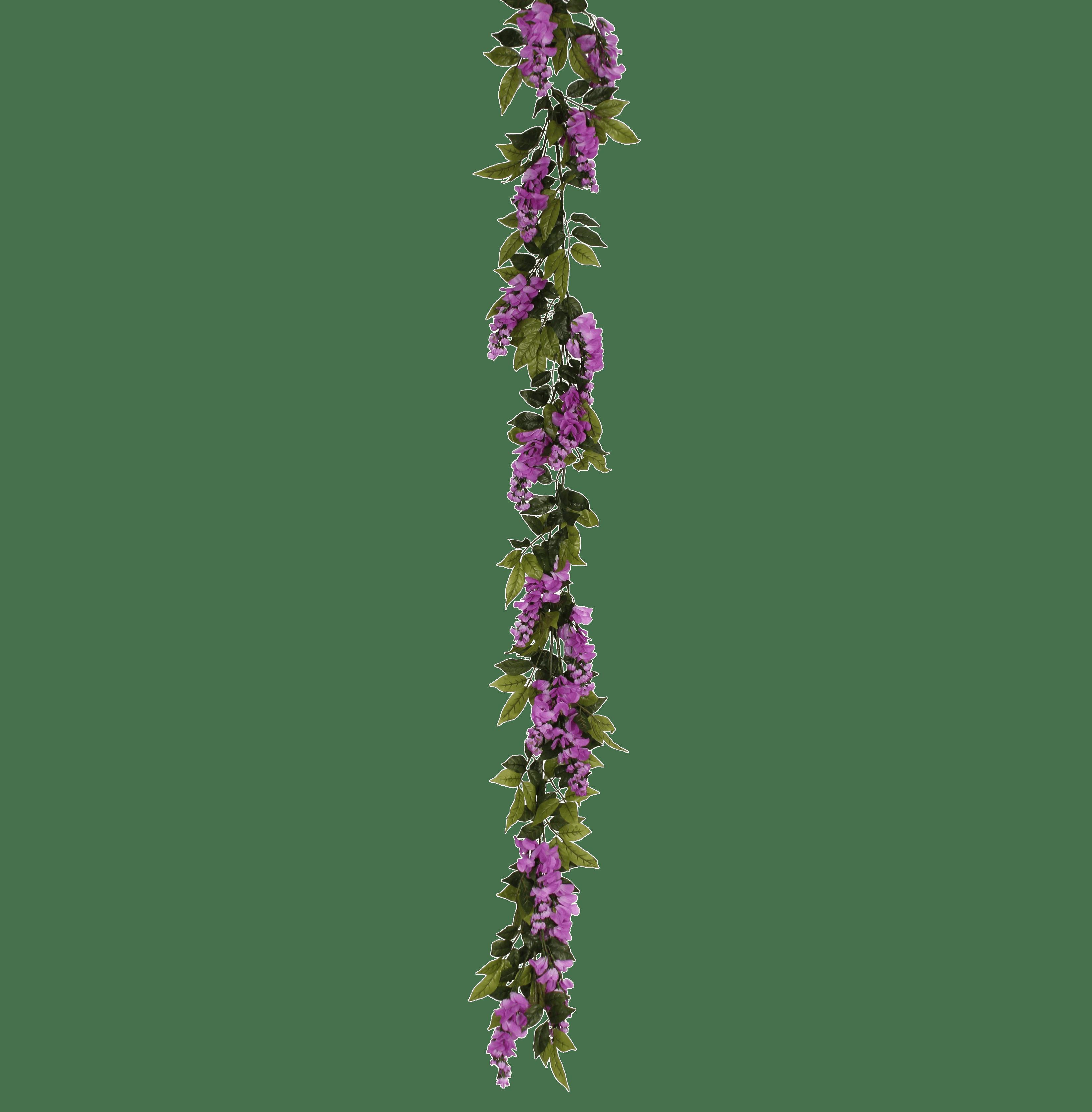 Artificial wisteria garland pink