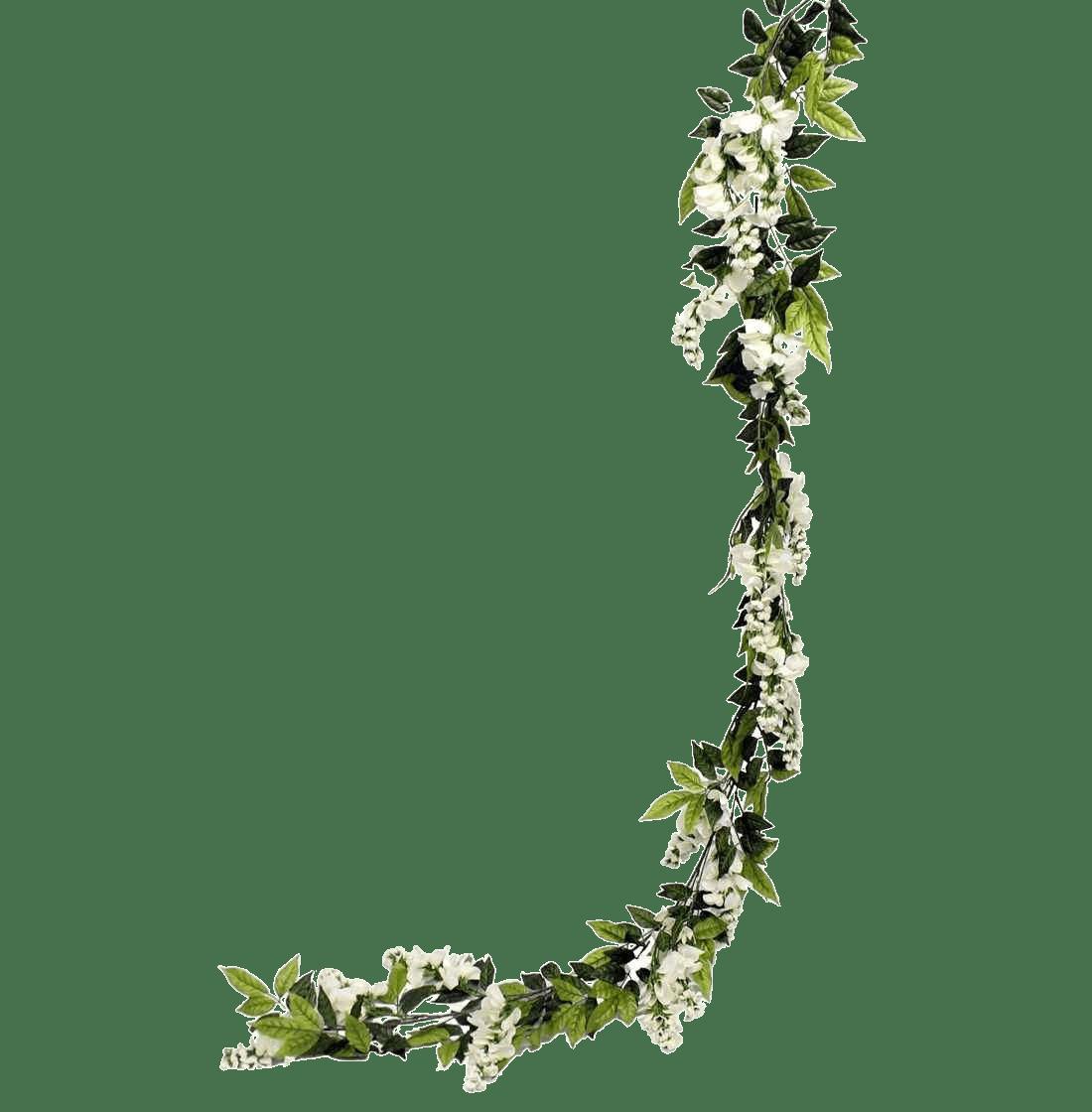 Artificial wisteria garland cream